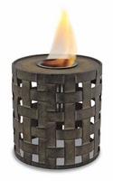Round Lattice Flame Pot or Fire Pot by Pacific Decor