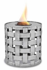 Round Silver Lattice Flame Pot or Fire Pot by Pacific Decor