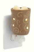 Round Tuscan Brown Plug In Warmer by Candle Warmers