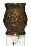 RUST TAPESTRY PLUG IN WARMER  by A Cheerful Giver