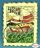 "Sailboat ""Sail the Seven Seas"" Stamp - Clayworks Studio Originals by Heather Goldminc"