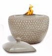 SAND ROUNDED SQUARE Flamepot or Fire Pot by Pacific Decor