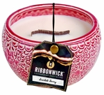 SCARLETT BERRY MEDIUM ROUND RibbonWick Scented Candle
