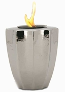 Silver Fluted Flamepot or Fire Pot by Pacific Decor