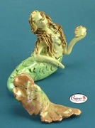 Small Mermaid - Clayworks Studio Originals by Heather Goldminc