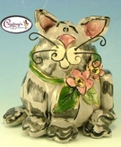 Smokey the Cat - Vase / Reed Diffuser - Clayworks Studio Originals by Heather Goldminc