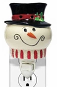 SNOWMAN Plug In Wax Melter or Warmer by A Cheerful Giver