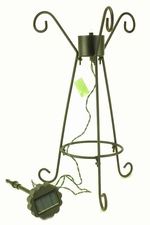 Solar Lighted Gazing Ball Stand by Evergreen