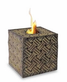Square Cadeaux Flame Pot or Fire Pot by Pacific Decor