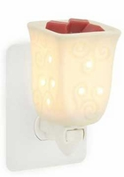 SQUARE PORCELAIN Plug In Warmer by Candle Warmers