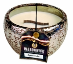 SUGARED AMBER MEDIUM ROUND RibbonWick Scented Candle