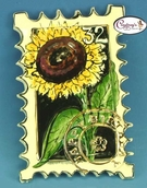 "Sunflower ""Happy Birthday"" Stamp - Clayworks Studio Originals by Heather Goldminc"