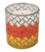 SWEET CANDY CORN Mosaic 10 oz WoodWick Scented Candle