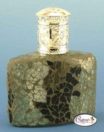 Sydney Black & Silver Mosaic Fragrance Lamp by Courtneys