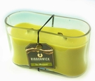 TEA BLOSSOM MEDIUM OVAL RibbonWick Scented Candle