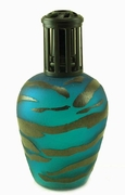 TEAL ZEBRA Fragrance Lamp by La Tee Da