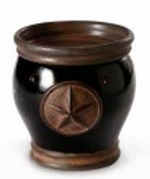 TEXAS STAR BLACK Fragrance Warmer - Wax Melter by AmbiEscents