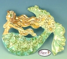 The Garden Mermaid Wall Plaque - Clayworks Studio Originals by Heather Goldminc