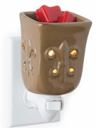 TOFFEE FLEUR DE LIS Plug In Warmer by Candle Warmers