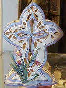 Tulip Cross Large  - Clayworks & Blue Sky