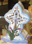 Tulip Cross Small  - Clayworks & Blue Sky