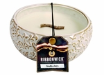 VANILLA SATIN MEDIUM ROUND RibbonWick Scented Candle