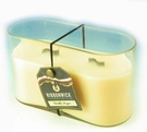 VANILLA SUGAR MEDIUM OVAL RibbonWick Scented Candle