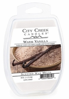 WARM VANILLA City Creek 4 oz Scented Wax Melts by Candle Warmers