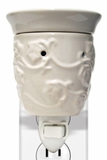 White Ceramic Plug In Wax Melter or Warmer by A Cheerful Giver