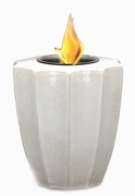White Fluted Flamepot or Fire Pot by Pacific Decor