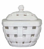 White Tuscan LONGFIRE Flamepot or Fire Pot by Pacific Decor