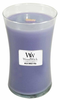 Wild Sweet Pea - WoodWick 22oz Large Jar Candle Burns 180 Hours