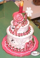 Winter Birthday Cake - Clayworks Blue Sky 2006
