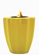 Yellow Fluted Flamepot or Fire Pot by Pacific Decor
