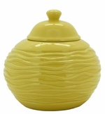 Yellow Strata LONGFIRE Flamepot or Fire Pot by Pacific Decor