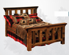 Barnwood Bed - Post Bed