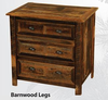 Barnwood Furniture - 3 Dr Chest