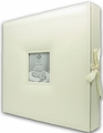 Pioneer 12 x 12 Sewn Leatherette D-Ring Scrapbook Box - Ivory