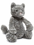 12-Inch Bashful Tabby Kitten Plush