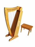 15 String Harp with Bench