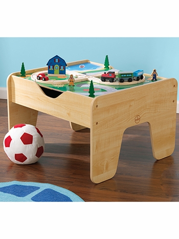 2-in-1 Activity Table with Double-Sided Play Board
