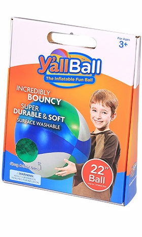 22-Inch Y'all Ball Inflatable Fun Ball