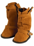 Adora Brown Slouchy Boots with Buckle for 18-Inch Dolls