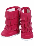 Adora Hot Pink Fringe Boots for 18-Inch Dolls