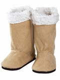 Adora Tan Boots with Faux Sherpa Lining for 18-Inch Dolls