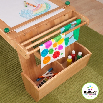 Art Table with Storage and Drying Rack