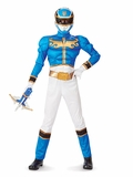 Blue Power Ranger Megaforce Muscle Chest Child Costume