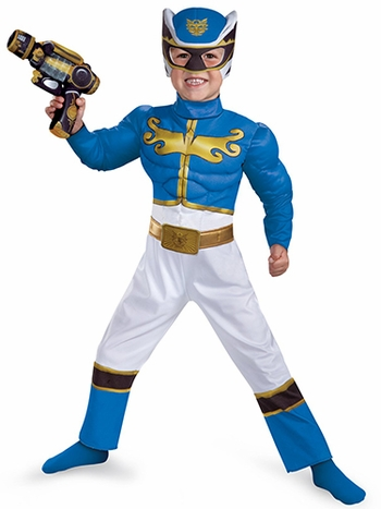 Blue Power Ranger Megaforce Muscle Chest Toddler Child Costume
