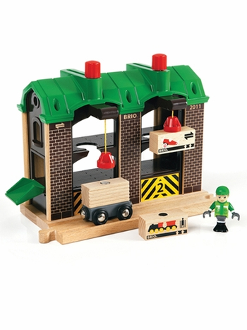 Brio Wooden Railway Cargo Warehouse