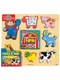 Chunky World Farm Puzzle Book